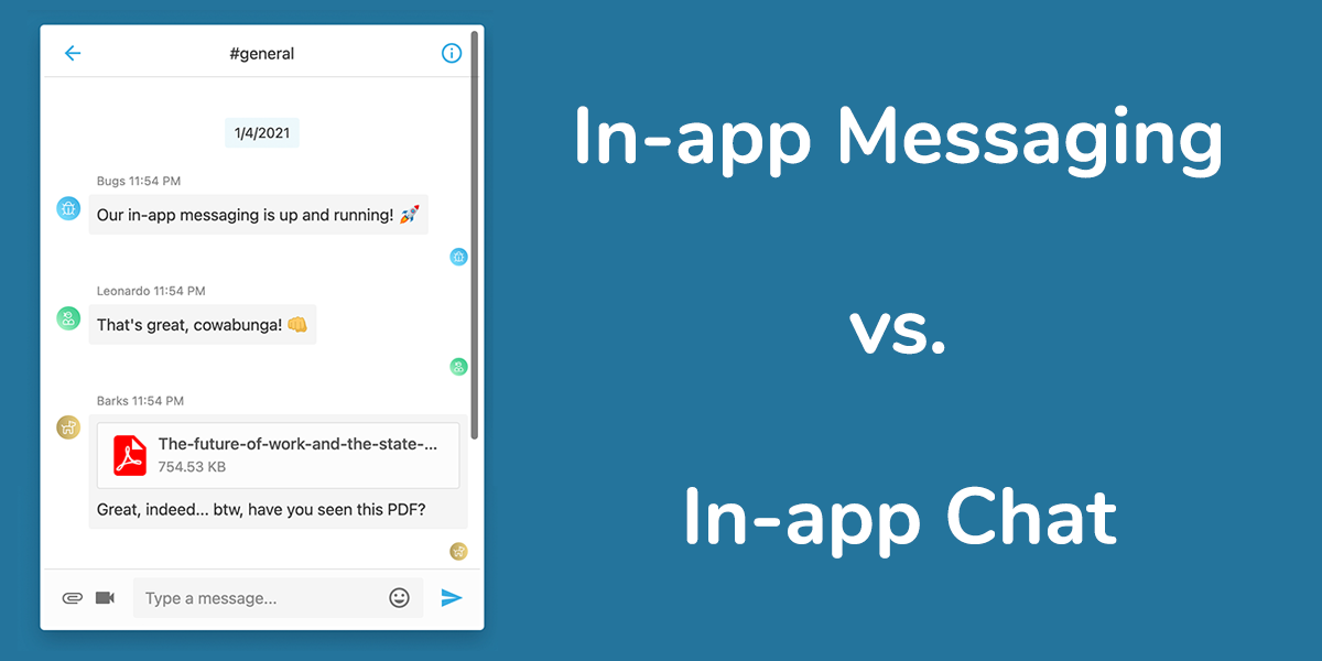 Messaging vs chat